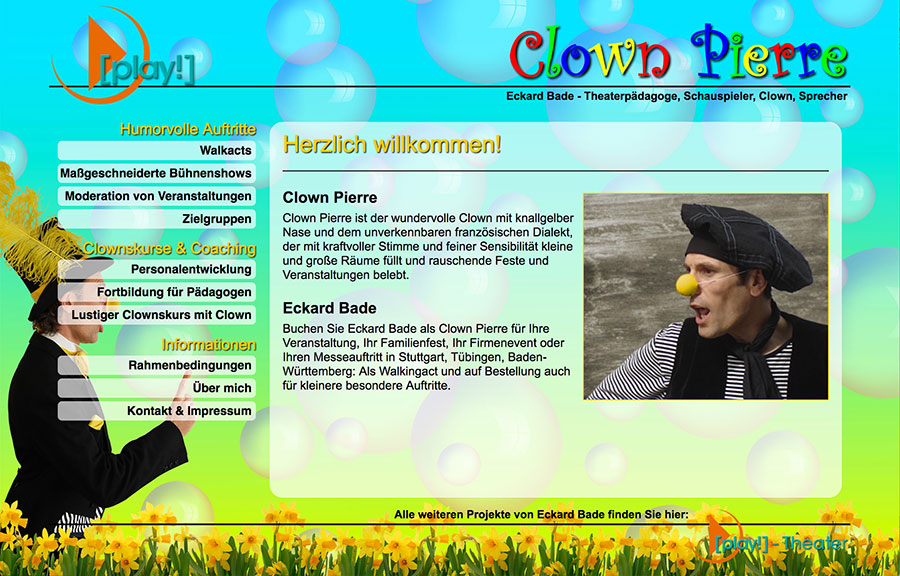 Website Clown Pierre